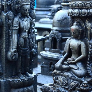 buddha sculpture in kathmandu in nepal