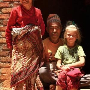 russian girl in kathmandu in nepal