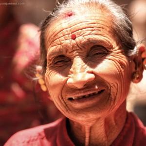 old nepali woman
