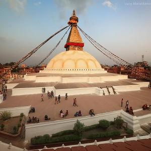 Bodnath stupa in Kathmandu in nepal