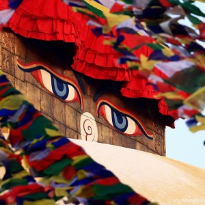 Buddha eyes on Bodnath stupa
