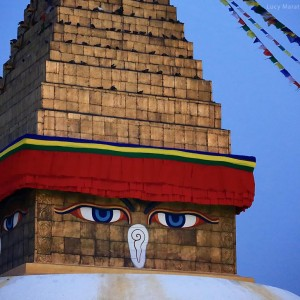 Buddha eyes Bodnath stupa