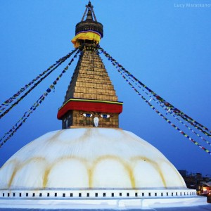 Ступа Боднатх панорама в непале