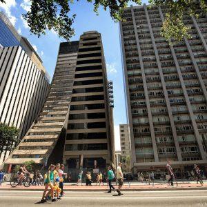 Вид на здания авениды Паулиста в Сан Пауло в бразилии