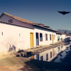 историческая часть города в парати в бразилии