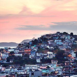 фавелы ангра дос рейс на закате в бразилии