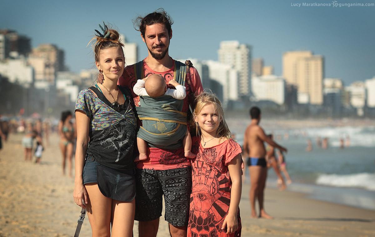 семейный отдых на пляже в рио де жанейро в бразилии