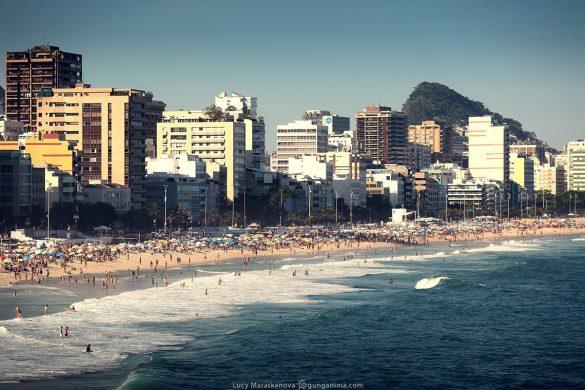 пляж леблон в рио де жанейро в бразилии