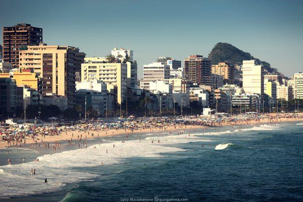leblon beach in rio de janeiro in brasil